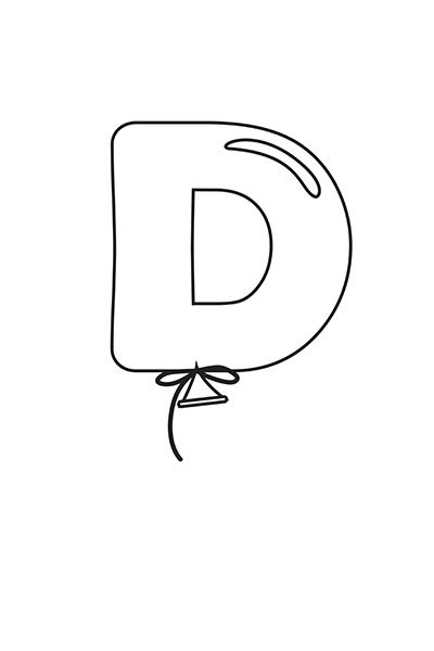Printable Bubble Letters Balloon Letter D