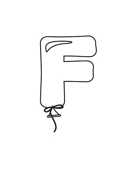 Printable Bubble Letters Balloon Letter F