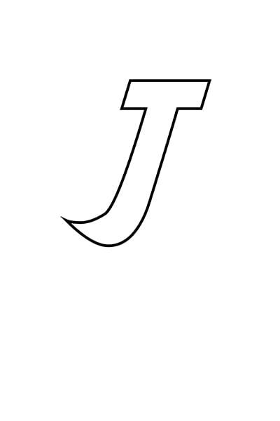 Printable Bubble Letters Cat Dog Letter J