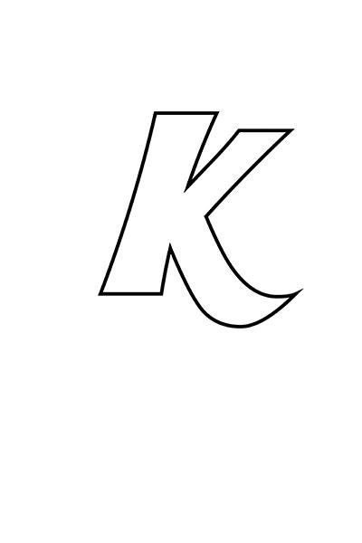 Printable Bubble Letters Fancy Letter K