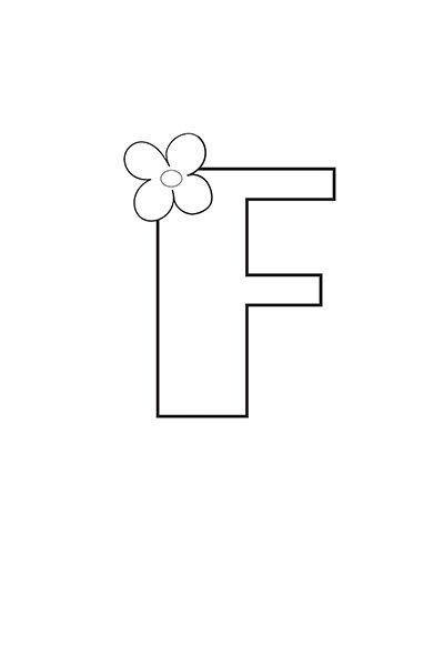 Printable Bubble Letters Flower Letter F