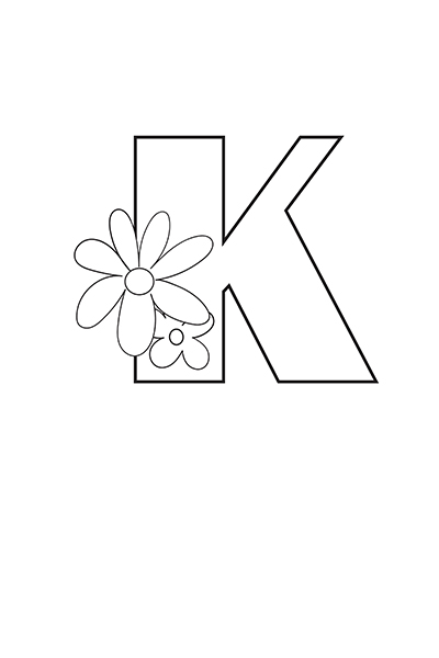 Printable Bubble Letters Flower Letter K