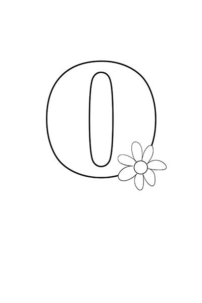 Printable Bubble Letters Flower Letter O