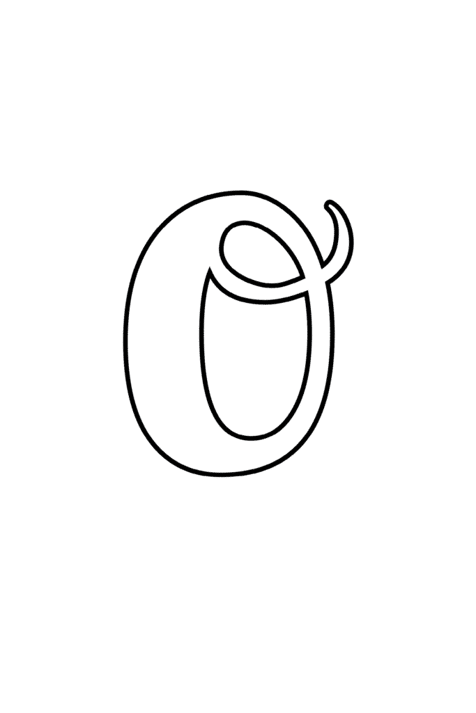 Printable Cursive Bubble Letter O