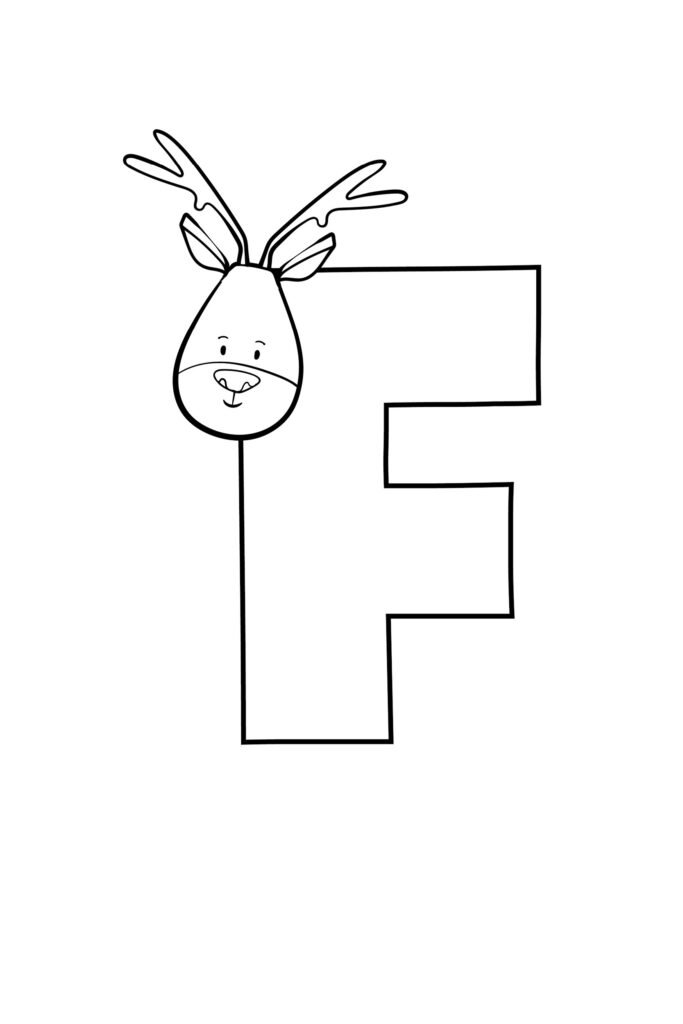 Printable Cute Bubble Letter F