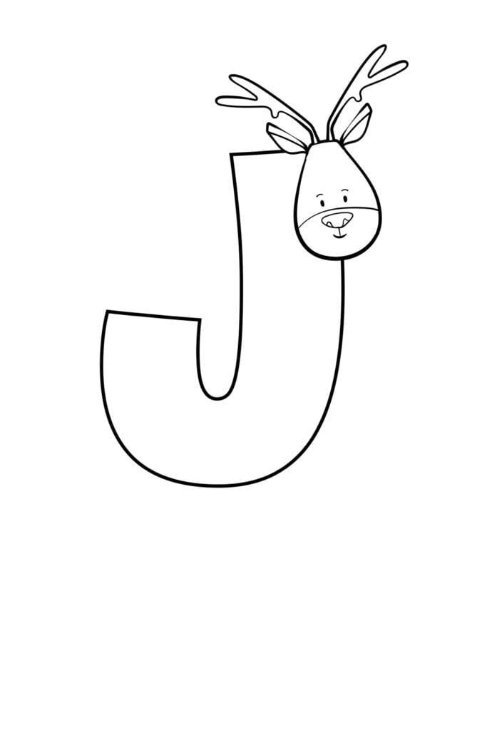 Printable Cute Bubble Letter J
