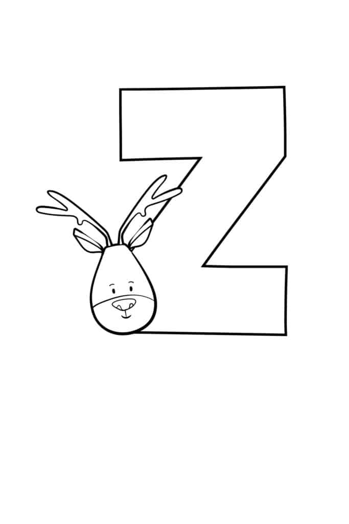 Printable Cute Bubble Letter Z