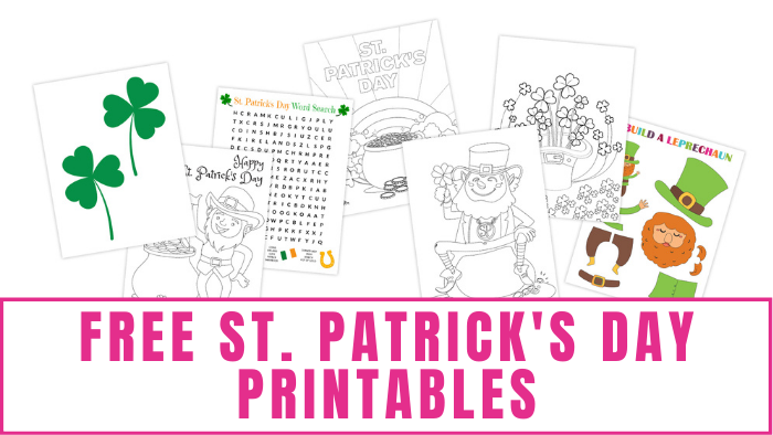 These free St. Patrick's Day printables including coloring pages, crafts, and a word search will get everyone ready for the holiday.