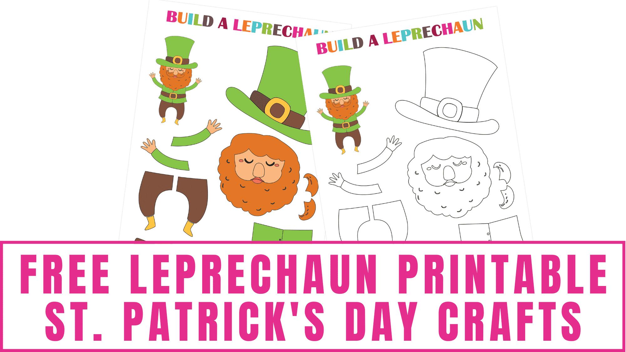 Your kids will enjoy bringing this free leprechaun printable to life.