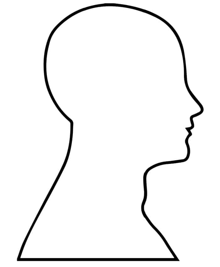 Get your good side with this human head template side profile printable!