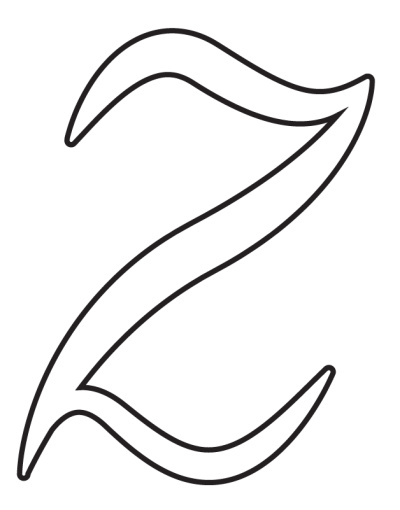 free printable calligraphy lowercase letters calligraphy lowercase Z