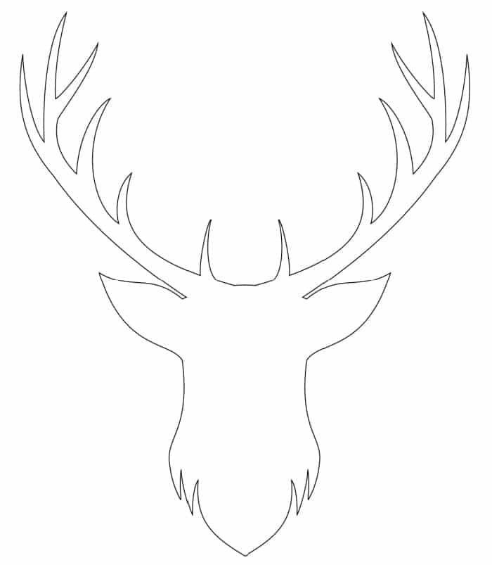Bring Bambi to life with this free printable deer head silhouette.