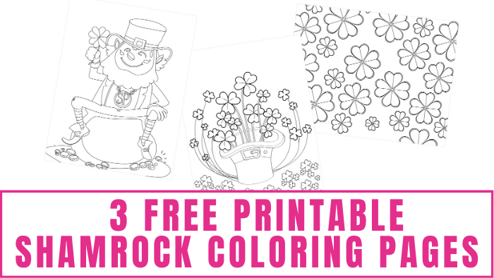 These free printable shamrock coloring pages are a great way to get your kids excited to celebrate St. Patrick's Day!
