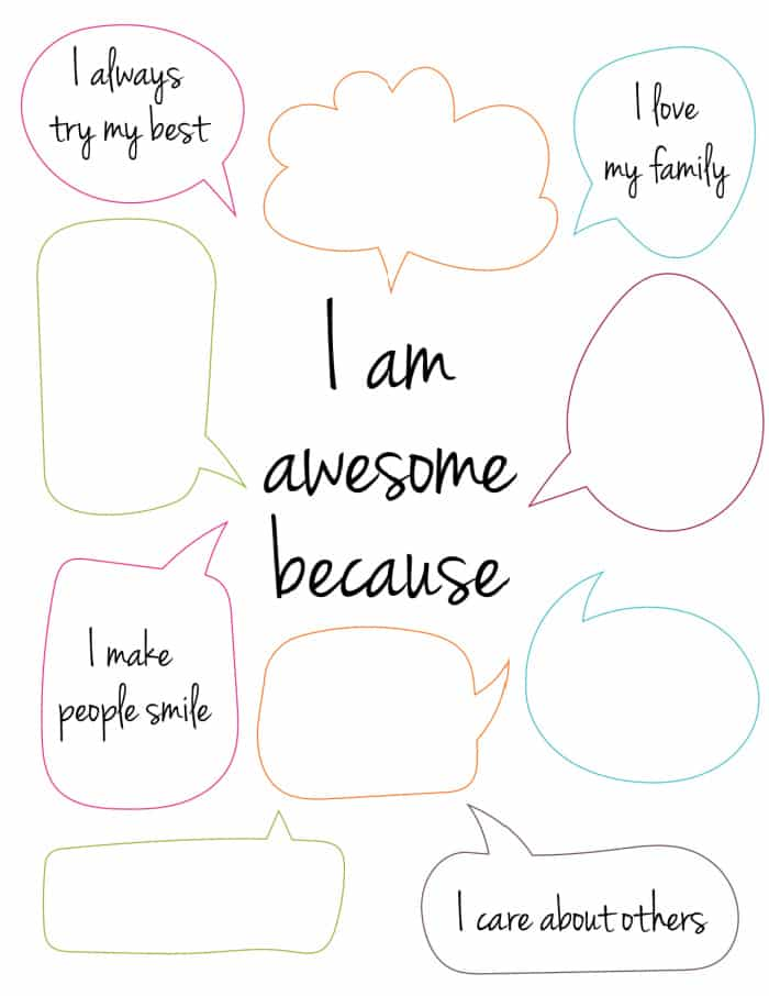 If you're struggling to come up with things you love about yourself, get inspired with this free self esteem worksheet printable.