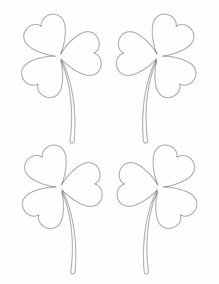 These free small printable shamrock images only have three leaves, which is the traditional representation