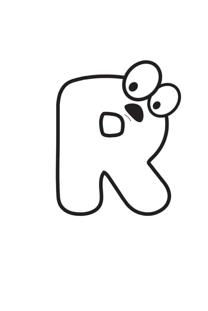 Free Printable Cartoon Letters Cartoon Letter R