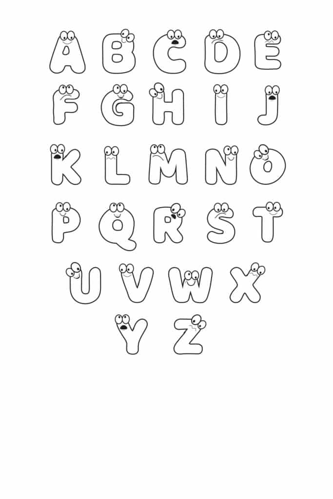 Free Printable Cartoon Letters Set