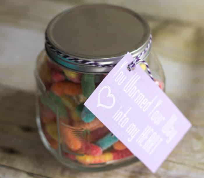 """hooked on you"" jar DIY Valentine's Day gift"