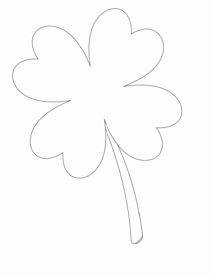 This large black and white four leaf clover free printable download would make a fun coloring sheet for your kiddos!
