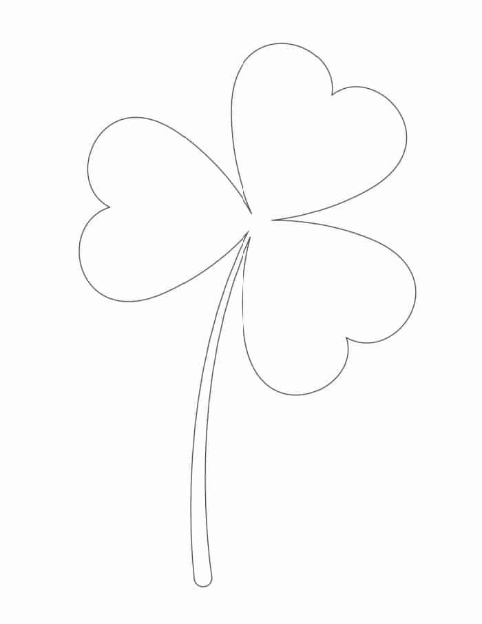 This large free printable shamrock template can be used as a coloring sheet to keep your kiddos entertained any day of the year!