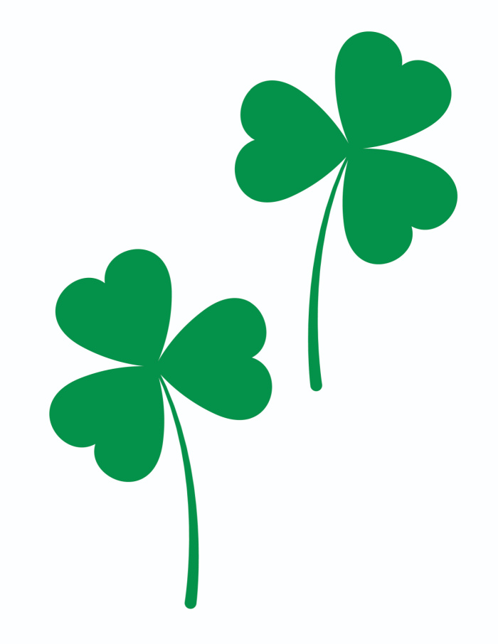 There's a lot you can do with this medium green shamrock printable free template. For instance, use them in crafts or for decorating.