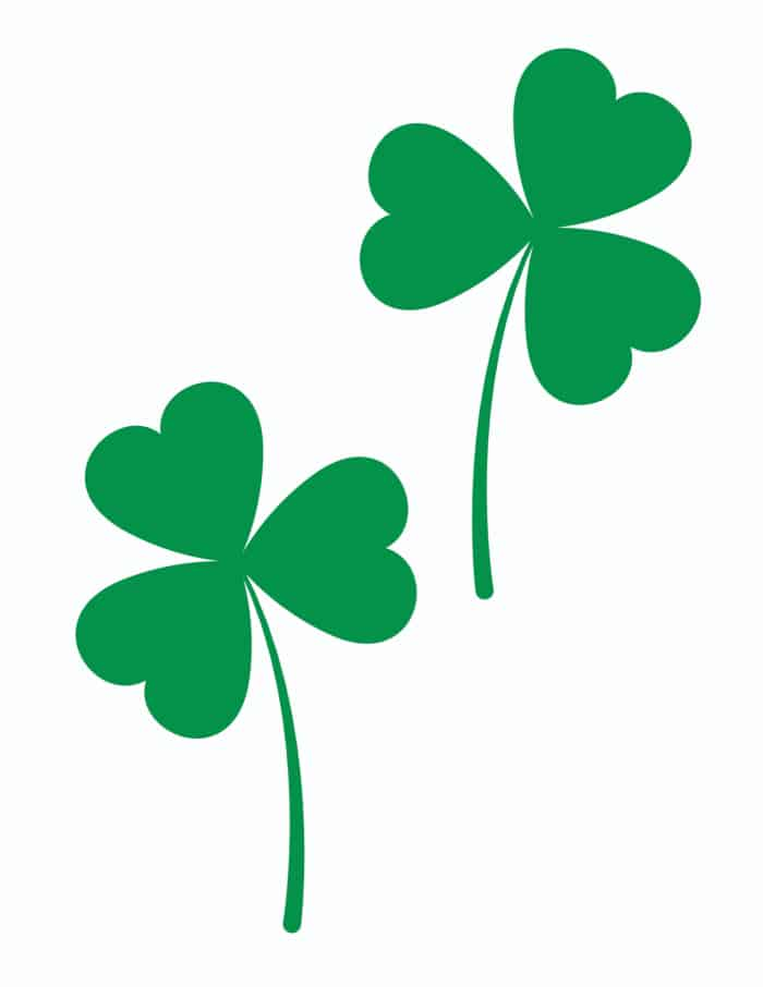 Use the medium green shamrock printable free template as a way to educate your kids about the holiday, Ireland, or plants.