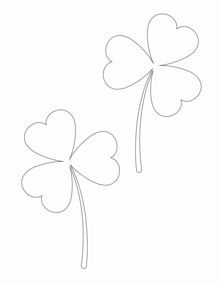 The medium shamrock outline printable free template could be decorated by your kids and then turned into cards for family members.