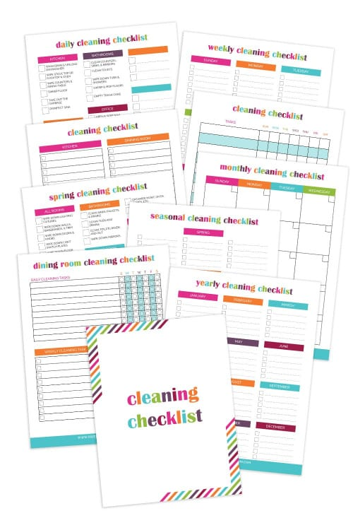 This cleaning checklist bundle will help you establish a cleaning routine that works with your schedule, so you can keep your house clean with less stress.