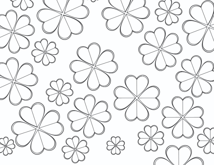 This shamrock coloring page free printable will look stunning once it's been colored with different shades of green.