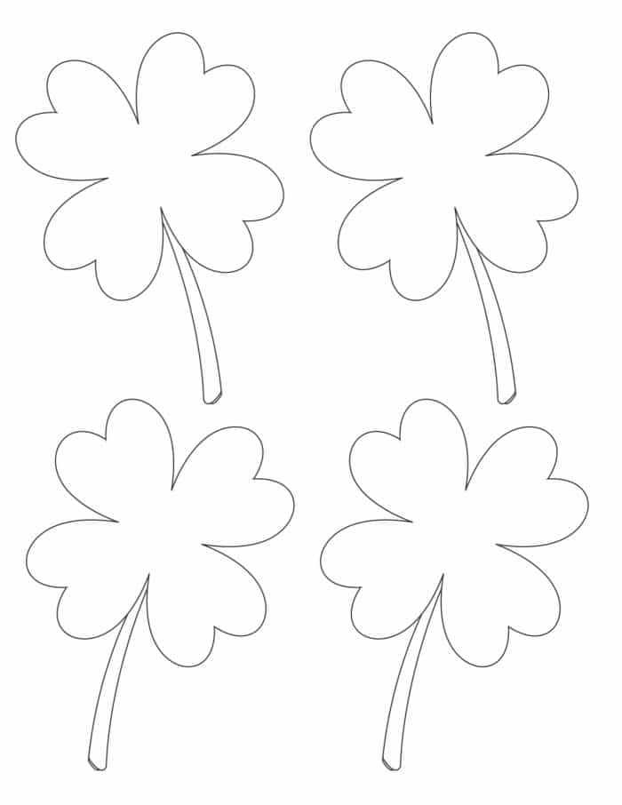 This small four leaf clover printable could be used for St Patrick's Day decorations or to celebrate spring.
