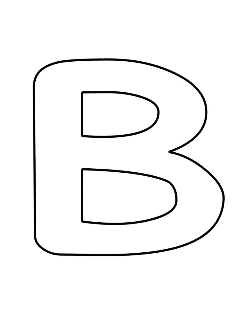 bubble letter B