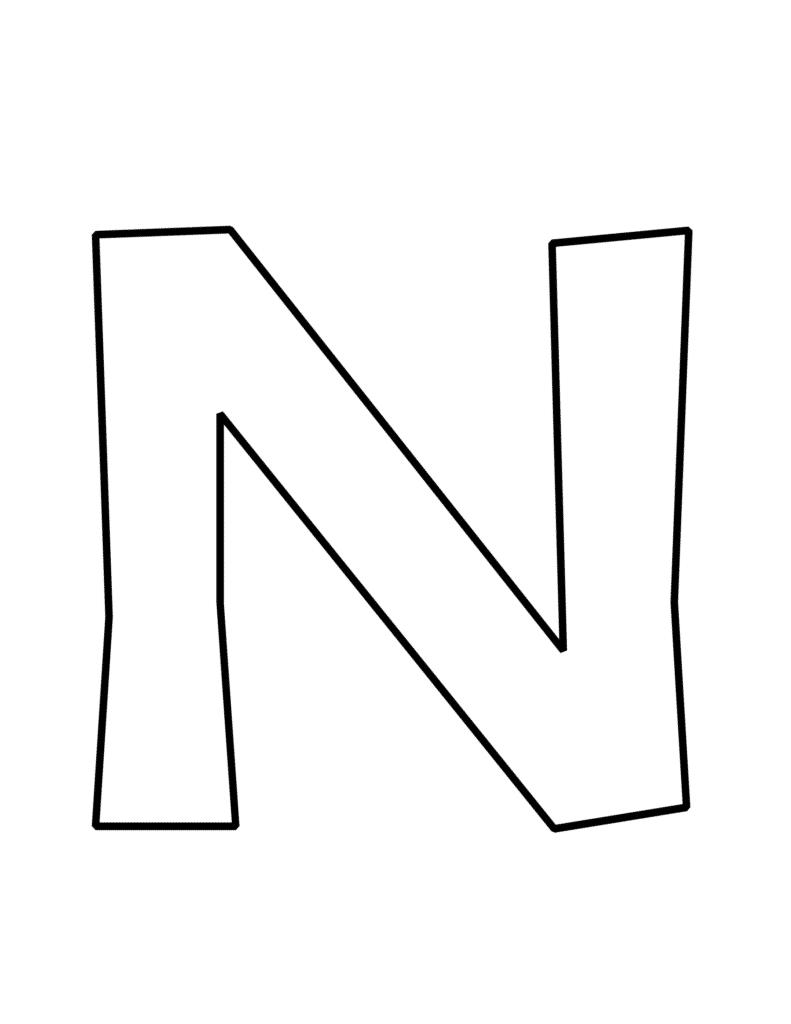 bubble letter N