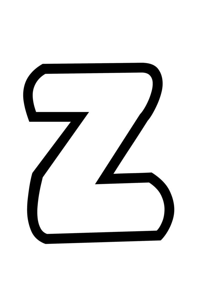 Free Printable Bubble Letter Stencils Bubble Letter Z