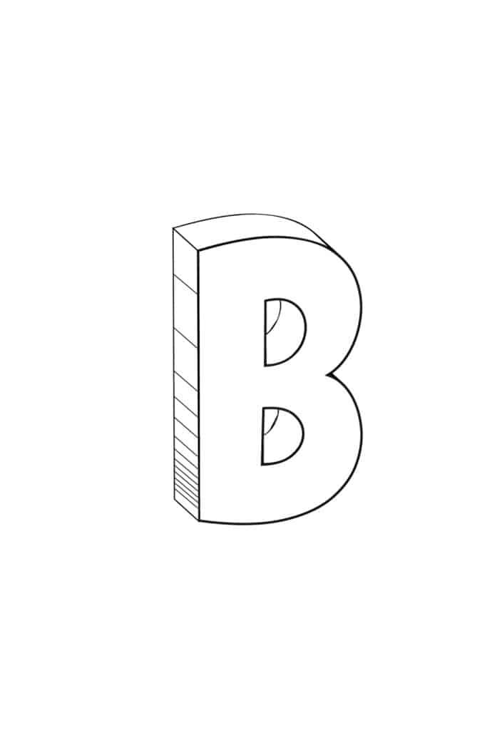 free printable cool bubble letter B