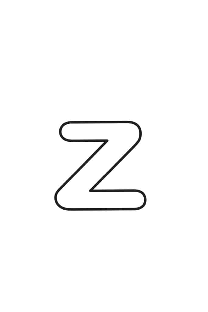 Free Printable Lowercase Bubble Letters Lowercase Z Bubble Letter