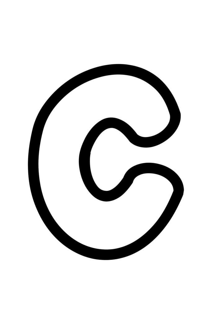 Free Printable Bubble Letter Stencils Bubble Letter C
