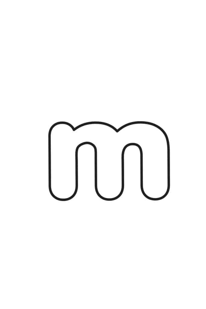 free printable lowercase bubble letters lowercase m bubble letter