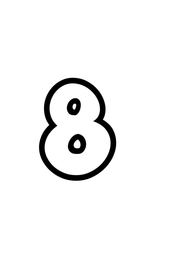 free printable number bubble letters bubble number 8