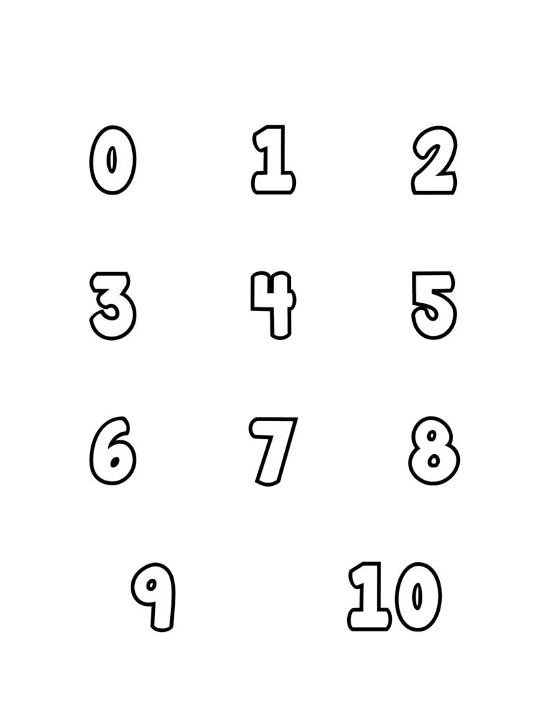 free printable number bubble letters bubble numbers set 0-10
