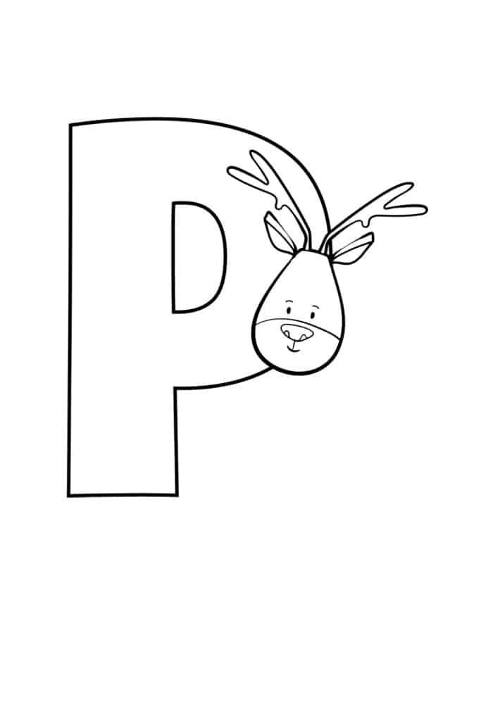 printable cute bubble letter P