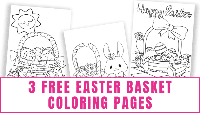 These free Easter basket coloring pages will have your kids hoppin' ready for Easter egg hunting.