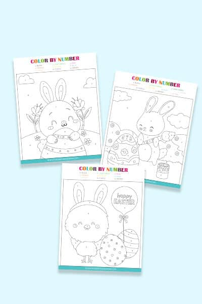 free Easter color by number printables