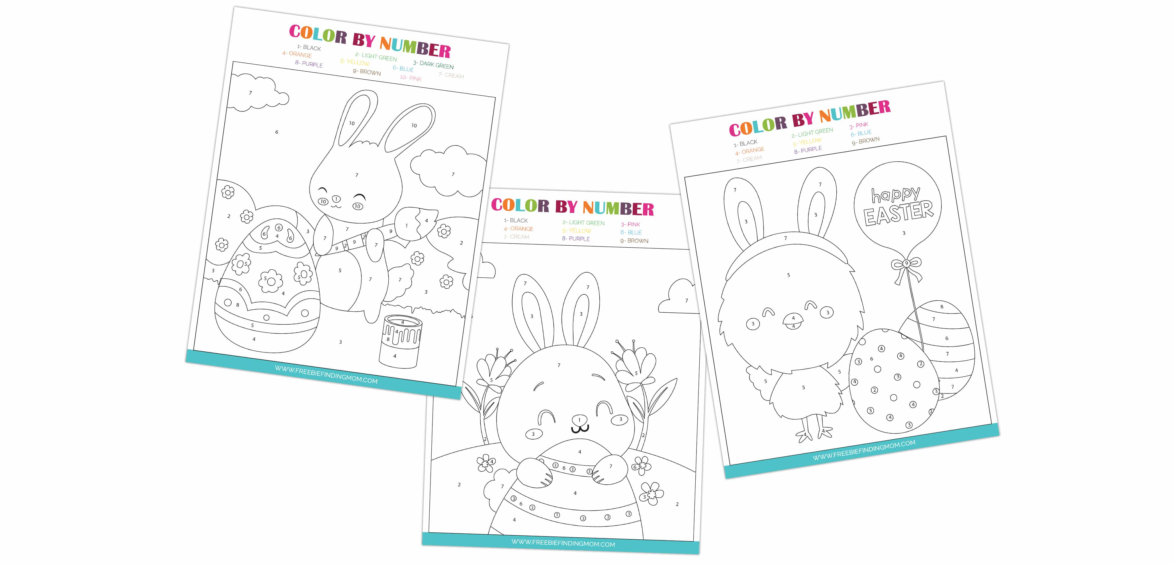 Need more spring color by number inspiration? Check out these free Easter color by number printables!