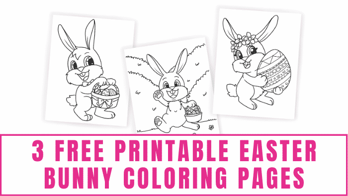 3 Free Printable Easter Bunny Coloring Pages - Freebie Finding Mom