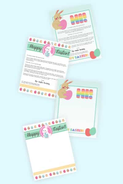 free printable Easter bunny letters