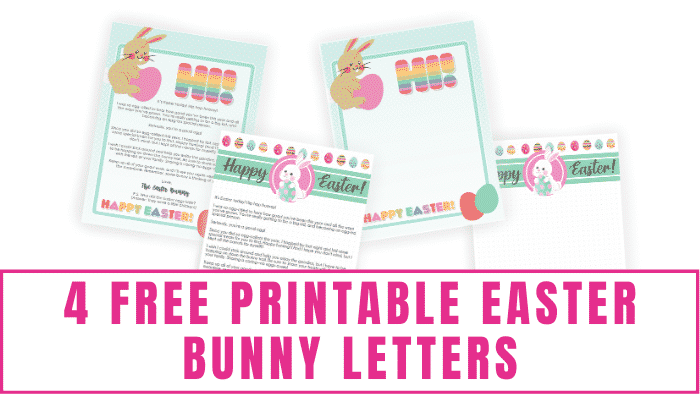 These free printable Easter bunny letters can be a fun way for the Easter bunny to send your kids a sweet note or the blank Easter letters can be templates for your kids to use to write to the Easter bunny.