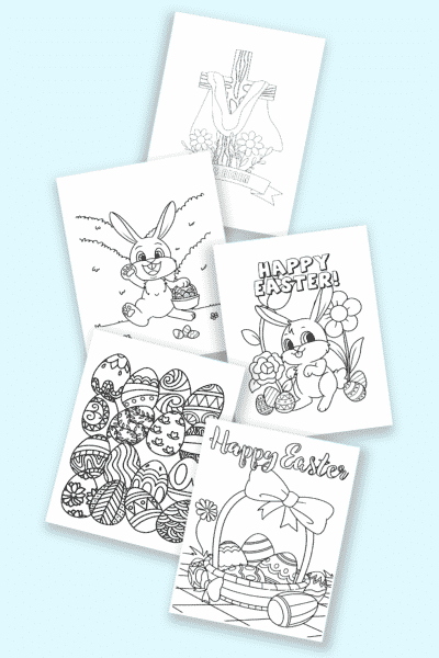 free printable Easter coloring pages, crafts, and more
