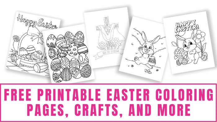 Running out of fun Easter ideas? Here's a bounty of free printable Easter coloring pages, crafts, delicious treats, and more!