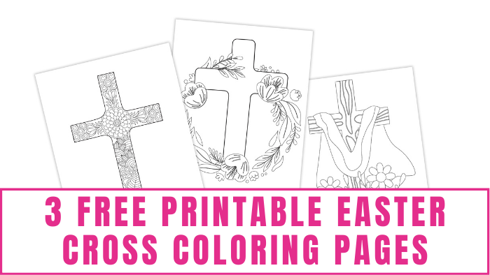 These free printable Easter cross coloring pages will help you celebrate the religious side of Easter.