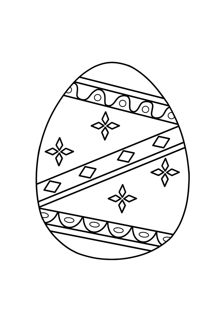 free printable Easter egg coloring page for adults